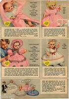 1951 ADVERTISEMENT 2 Pg Doll Effanbee Tintair Dy-Dee Little Playmate Sings Dye