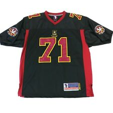 US Army Battlefield Collection EOD 71st Raptors Sewn Football Jersey Size 52 XL
