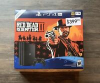 SHIPS SAME DAY Box Only Ps4 Pro Red Dead Redemption 2 For Display Gamestop Rare