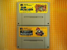 SUPER MARIO WAORLD & KART  Nintendo Japan SNES Super Famicom Japanese Used