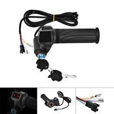 EBike Electric Scooter Throttle Grip 24 36 48 72V Handlebar LED Digital Meter VY