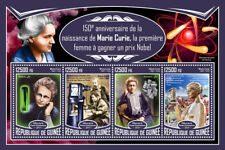 Guinea 2017 MNH Marie Curie 150th Birth Anniv Nobel Prize 4v M/S Science Stamps