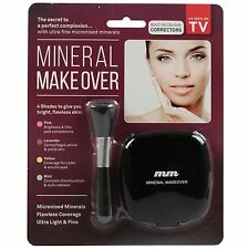 Mineral Makeover Foundation Concealer Make Up Powder Beauty Cosmetics with Brush