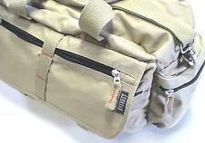 Fly Fishing Satchel, Nice Classic Size, Khaki 600D Polyester w/cotton straps
