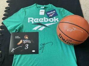 ALLEN IVERSON AUTOGRAPHED NBA BASKETBALL, PHOTO & REEBOK SHIRT