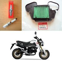 Honda MSX125 GROM Spark Plug + Air Filter 2013 - 2016 * GENUINE & UK STOCK *