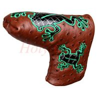 Golf Blade Brown Putter Cover For Odyssey Scotty Golf Putter Magnetic Frog Cover