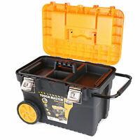"Tough Master 24"" Rolling Portable Power Tool Box Storage Organizer Chest Handle"