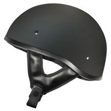 S Small Rebel Street Open Face Matt Black Low Profile Shorty Motorbike Helmet