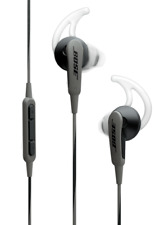 Bose SOUNDSPORT IN-EAR HEADPHONES FOR APPLE DEVICES Inline Mic & Remote CHARCOAL