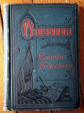 Life of DANIEL WEBSTER 1881 Antique Book EMINENT STATESMEN Illustrated RARE!