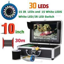 "10""30M 1000Tvl Fish Finder Underwater Fishing Camera 15pcs Leds + Infrared Lamp"