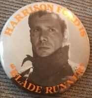 "Vintage Blade Runner Harrison Ford Promo Movie Advertising 2.25"" Pinback Button"