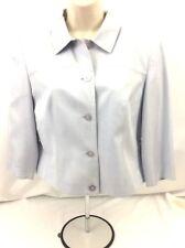 EUC TALBOTS Woman Pure Silk Button Down Waist Jacket Long Sleeve Size 8 (419)