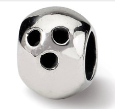 Sterling Silver Reflections Bowling Ball Bead QRS1157