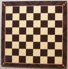 Chess Checkers game board Decoupage Walnut and Maple woodgrained NEW 17 1/4""