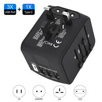 ShuttleLock Travel Adapter Worldwide Wall Charger Power Plug with 3 USB 1 Type C