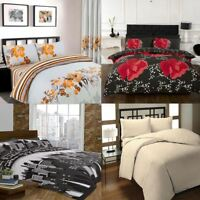 New Printed Duvet Cover with Pillow Case Quilt Cover Bed Set Double & King Size