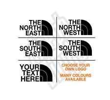 North East West South vinyl sticker decal custom car jdm coast (window optional)