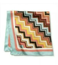New Missoni For Target Zig Zag 100% Silk Scarf One Size