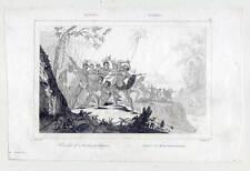 Borneo-Menschenfresser-Kanibalen-Cannibals-Ethnologie - Stahlstich 1836