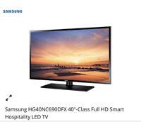 "Samsung HG40NC690DFXZA 40"" Full HD Smart Hospitality LED TV, Quantity 51"