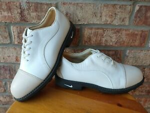Nike Air Women's Bella Last White Beige Soft Comfort Golf Shoe Cleats - US 7