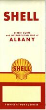 1957 Shell Road Map: Albany NOS