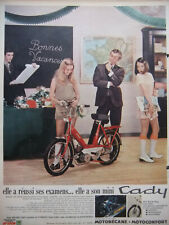 PUBLICITÉ DE PRESSE 1969 MINI-CYCLOMOTEUR CADY MOTOBÉCANE - MOTOCONFORT