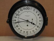 "CHELSEA MILITARY SHIPS CLOCK~U.S.NAVY~10 1/2""~1945~24HR DIAL"