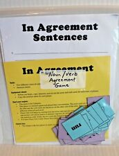 Noun / Verb Agreement Language Arts Teaching Activity Grades 1-3 Writing Game