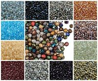 CHOOSE COLOR! 100pcs 4mm Fire Polished Round Beads Czech Glass