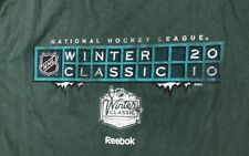 NHL Winter Classic 2010 Boston Bruins Fenway Reebok Medium Shirt Green Monster