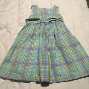JANIE AND JACK TODDLER GIRLS DRESS SZ 2T WHITE BLUE GREEN