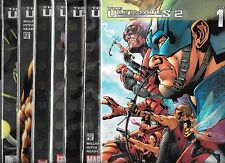 THE ULTIMATES 2 #1-#13 & ANNUAL #1 SET (NM-) MARK MILLAR