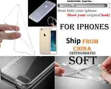 SOFT TPU Crystal Clear Case Cover Transparent iphone X 4 5 6 7 8 XR XS MAX Etui