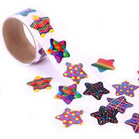 100pcs Stationery Stickers Tape Creative School Reward Cute Pentagram Sticker.UK