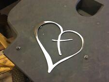 Plasma cut Heart cross cut out Metal Wall Art Home Decor