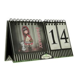 Santoro Gorjuss Little Red Riding Hood Perpetual Flip Desk Calendar Reusable
