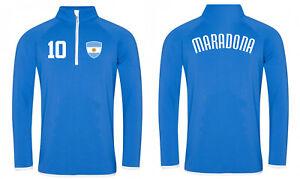 Diego Maradona Sweater Jacke Zip Fußball Dios 10 Diego