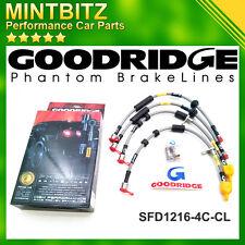 Ford Focus MK1 2.0T RS 02-04 SS V.Black Goodridge Brake Hoses SFD1009-6C-VB