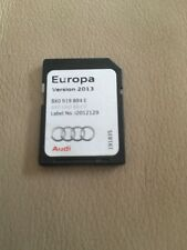 AUDI A1,A6,Q3 MAP DATA SD CARD UK. IRELAND. EUROPE 2013. 8X0 919 884E