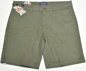 "English Laundry Shorts Men's Raymond Stretch Twill 5-Pocket 9"" Short Olive Q982"