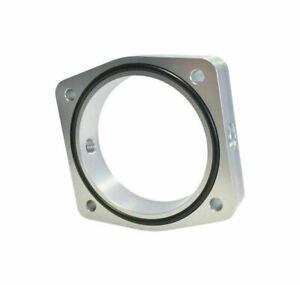 Torque Solution Throttle Body Spacer (Silver) Fit Fits / Infiniti VQ35DE Engine