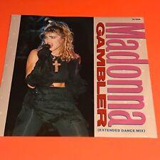 MADONNA GAMBLER UK 12 RARE 1985
