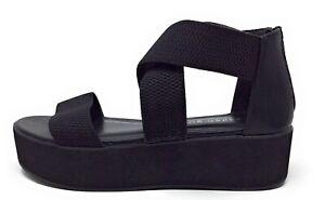 Madden Girl Womens Suzie Platform Strappy Sandals Black Size 10 US
