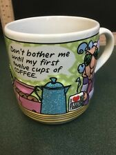 Maxine 3D Coffee Mug Cup Don't Bother Me Until First Twelve Cups Hallmark Cards