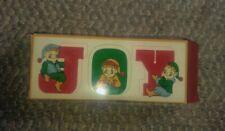 Vintage Avon Joyous Message Candles Joy Elves Christmas