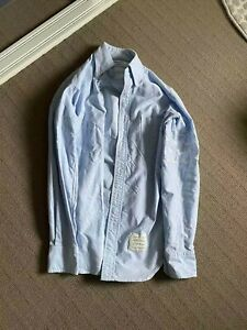 thom browne shirt size 1 in blue, fits tts, condiition 8.5/10
