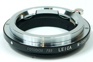 FOTODIOX PRO LEICA M-SONY ADAPTER LEICA M-MOUNT TO SONY E-MOUNT